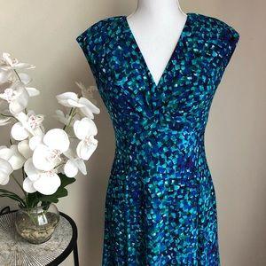 Ralph Lauren•Blue Pattern Dress